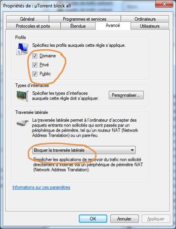Configurer pare-feu Windows contre deconnexions VPN 6