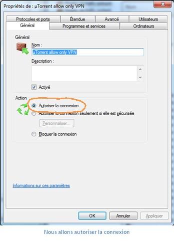 Configurer pare-feu Windows contre deconnexions VPN 7