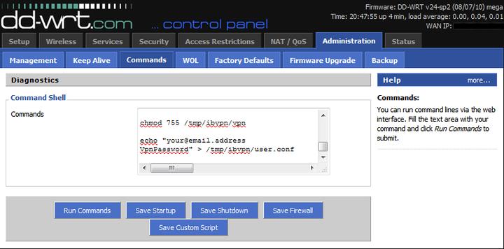 IbVPN sur routeur DD-WRT 1