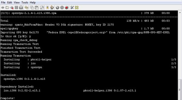 OpenVPN sur VPS - Centos 5 11
