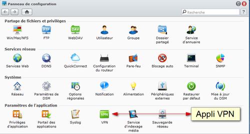 Appli VPN Syno
