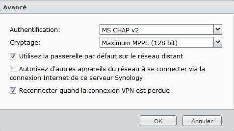 IPVanish PPTP Options Syno
