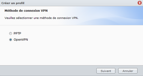 VPN OPENVPN Synology