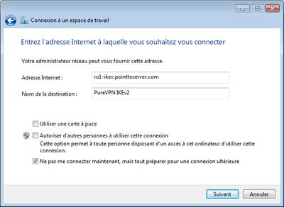Config VPN adresse