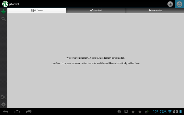 utorrent app main page
