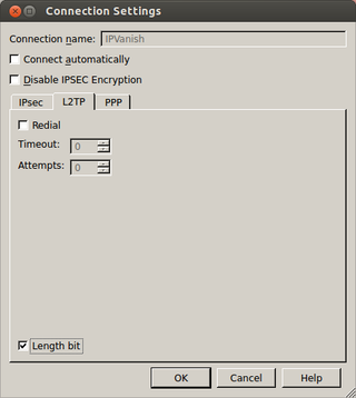 Connection Settings IPVanish L2TP Length bit