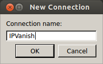 New Connection IPVanish