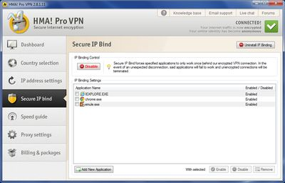 HMA Secure IP Bind