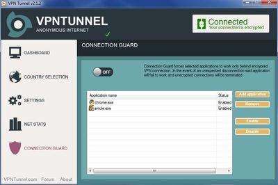 vpntunnel connection guard