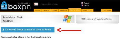 Boxpn client Software