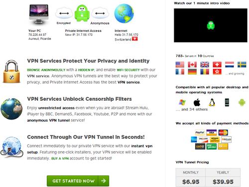 privateinternetaccess page une
