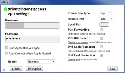 privateinternetaccess settings