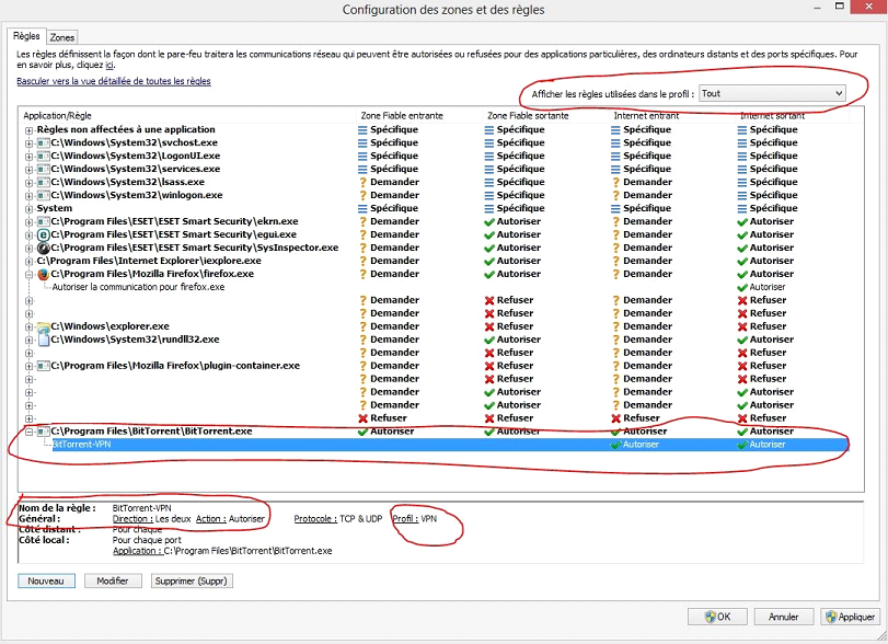 Eset profil bitorrent vpn