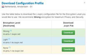 IronSocket - Configuration profile