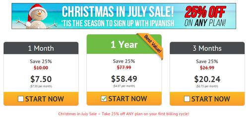 IPVanish promotion été
