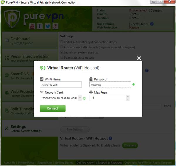 PureVPN Wi-Fi Hotspot