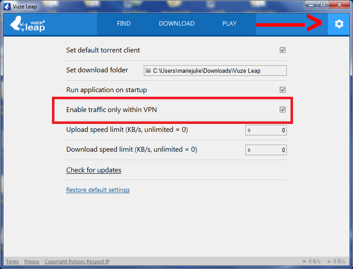 Vuze Leap VPN