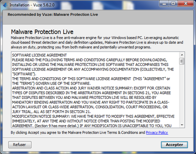 Vuze Malware protection