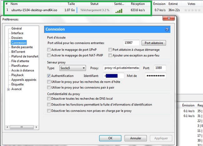Private Internet Access utorrent iso linux
