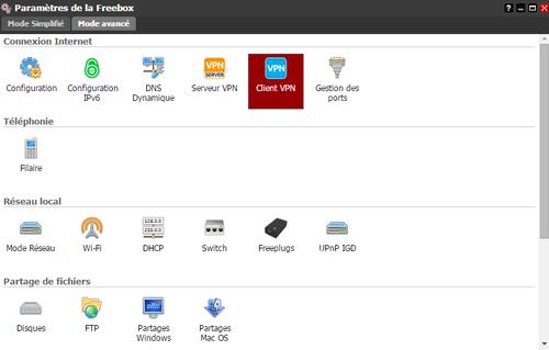 Freebox OS - Client VPN