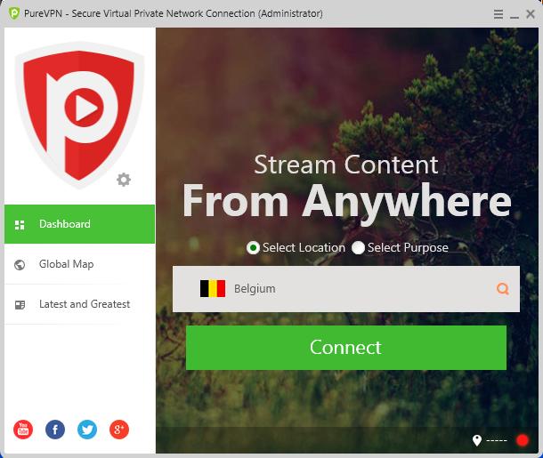 PureVPN stream netflix belgium