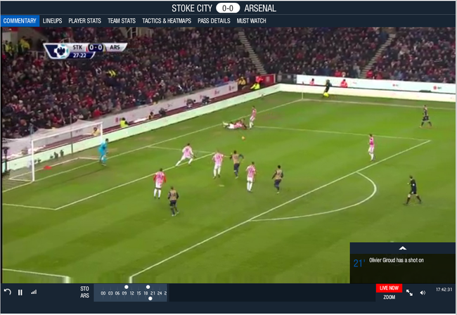 Stoke City vs Arsenal Live Streaming from EPL 2015-16 season on starsports_com' - matchcentre_starsports_com_football_barclays-english-premier-league
