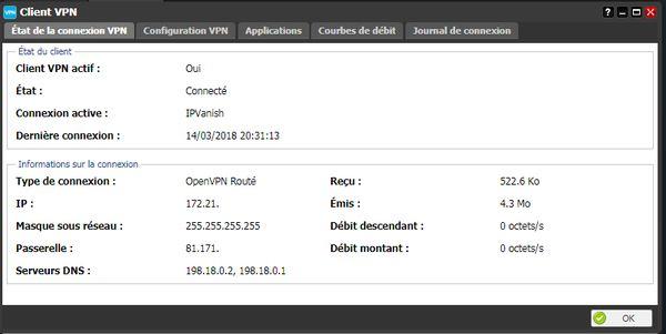 IPVanish sur Freebox Server (Client VPN) 4