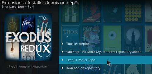 Installation de Exodus Redux sur KODI 11