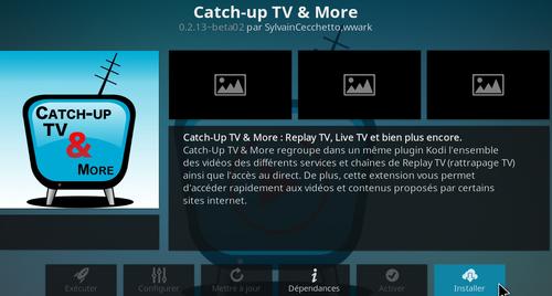 Catch-Up TV & More sur Kodi 13