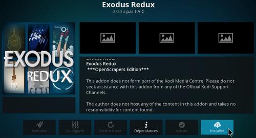 Installation de Exodus Redux sur KODI 12