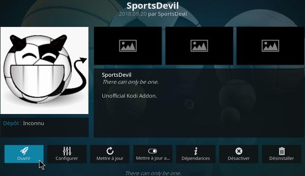 SportsDevil sur KODI 9