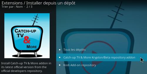 Catch-Up TV & More sur Kodi 19