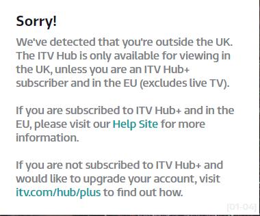 Regarder iTV Chaîne Britannique à l' étranger 1