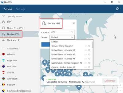Double VPN et Multi HOP VPN 19