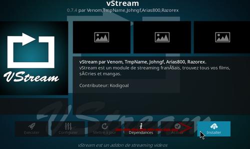 Installation Vstream sur Kodi 8