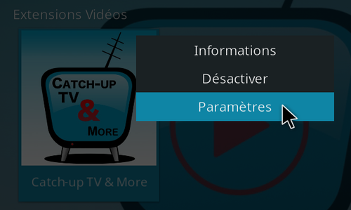 Catch-Up TV & More sur Kodi 17