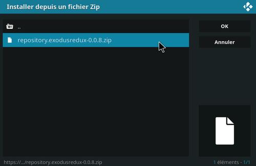 Installation de Exodus Redux sur KODI 9