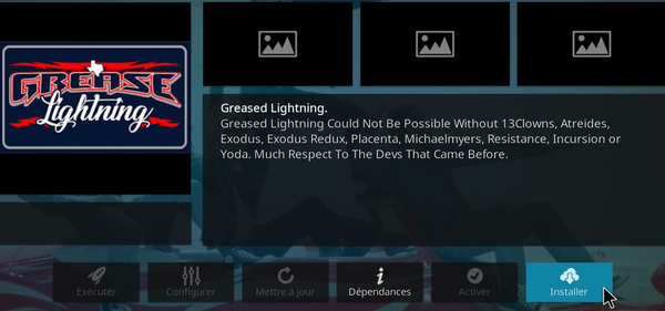 Extension Grease Lightning pour KODI 14