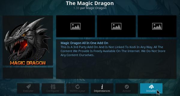 Magic Dragon sur KODI 13