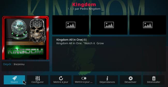 Addon Kingdom sur Kodi 20