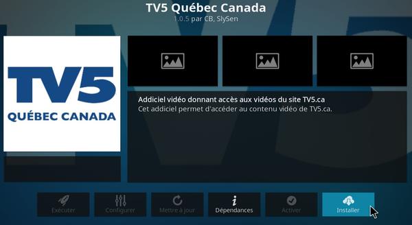 Dépôt Québec sur Kodi Media Center 6