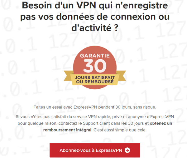 No Log d' ExpressVPN - Explications et analyses 14
