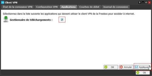 Télécharger depuis sa Freebox derrière un VPN 2